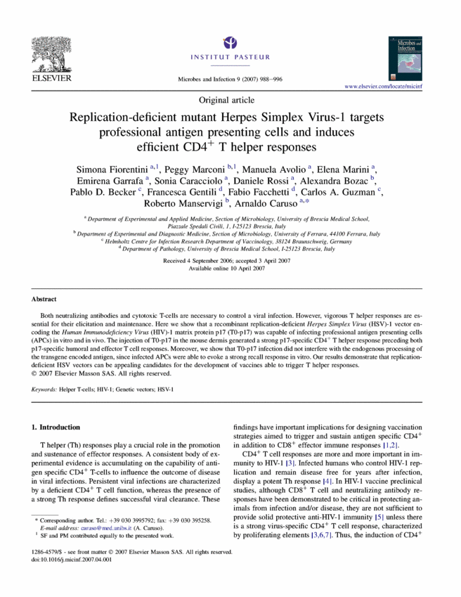 Replication-deficient mutant Herpes Simplex Virus-1 targets
