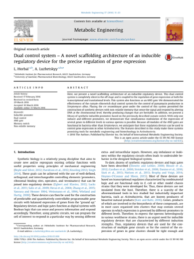 Dual control system - A novel scaffolding architecture of an
